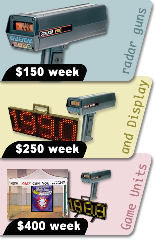 Radar gun rental prices